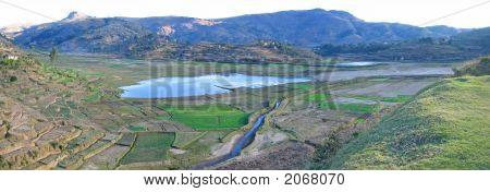 Countryside, Antsirabe, Madagascar, Panoramique