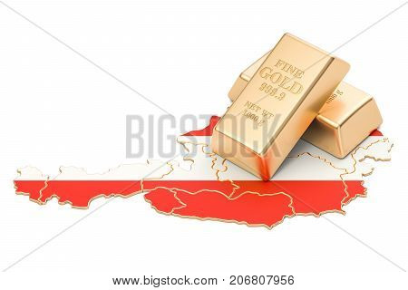 Foreign-exchange reserves of Austria concept 3D rendering isolated on white background