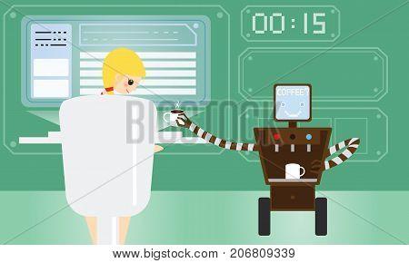Domestic Robot Brings Vector & Photo (Free Trial) | Bigstock