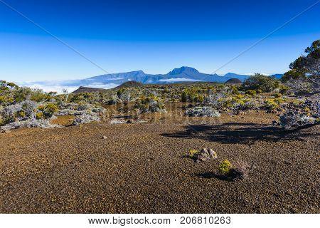 Peak of Piton des Neiges at Reunion Island