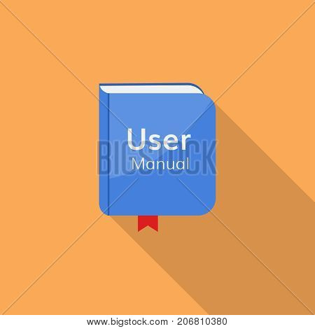 user guide manual vector icon  book document guidebook