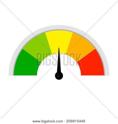 Customer satisfaction meter  Speed metering or rating icon