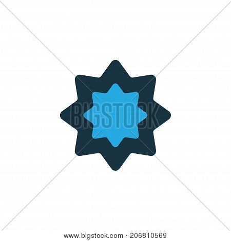 Premium Quality Isolated Octagonal Star Element In Trendy Style.  Rub El Hizb Colorful Icon Symbol.