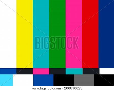 no signal tv  vector illustration movie background