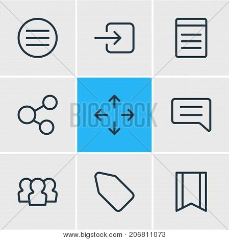 Editable Pack Of Pennant, Sign In, Label And Other Elements.  Vector Illustration Of 9 Application Icons.