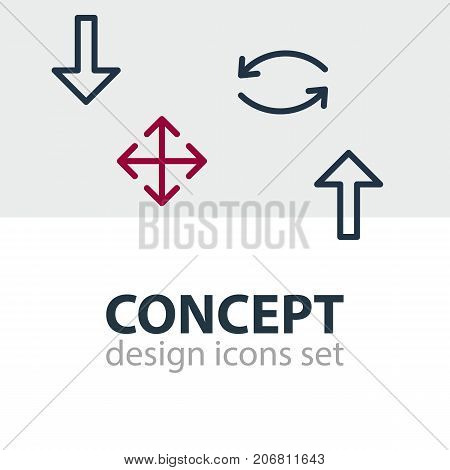 Editable Pack Of Update, Widen, Download And Other Elements.  Vector Illustration Of 4 Sign Icons.