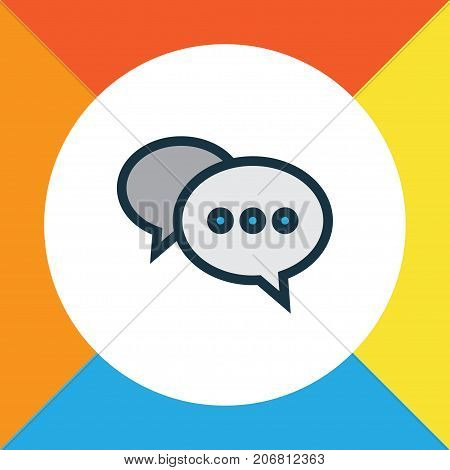 Premium Quality Isolated Chatting Element In Trendy Style.  Comment Colorful Outline Symbol.