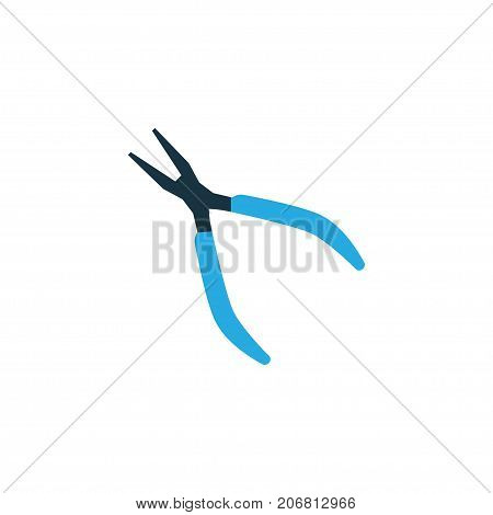 Premium Quality Isolated Round Pliers Element In Trendy Style.  Clamp Colorful Icon Symbol.