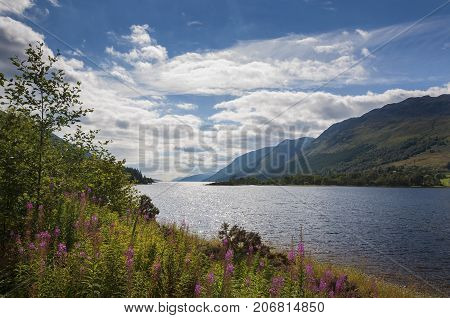 View of the Loch Ness in Scotland United Kingdom