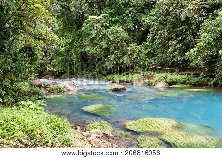 Tranquil Pool In The Turquoise River