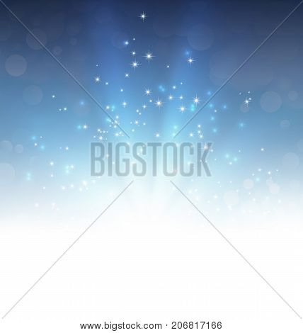 Festive Light Explosion On Blue