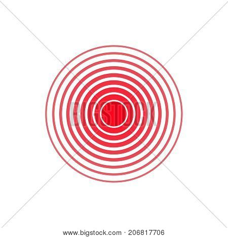 pain circle vector pain center red spot circle