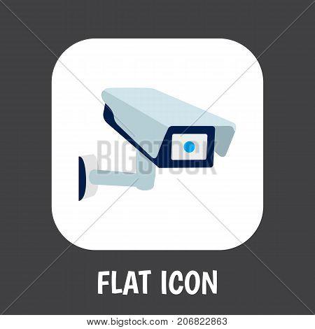 Vector Illustration Of Procuring Symbol On Surveillance Flat Icon