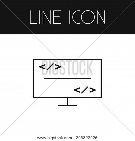 Script Vector Element Can Be Used For Coding, Script, Programmer Design Concept.  Isolated Coding Outline.