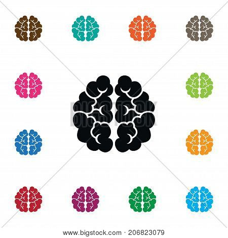 Mentality Vector Element Can Be Used For Thinking, Mentality, Brain Design Concept.  Isolated Thinking Icon.