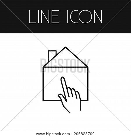 Pointer Vector Element Can Be Used For Home, Select, Pointer Design Concept.  Isolated Select Outline.