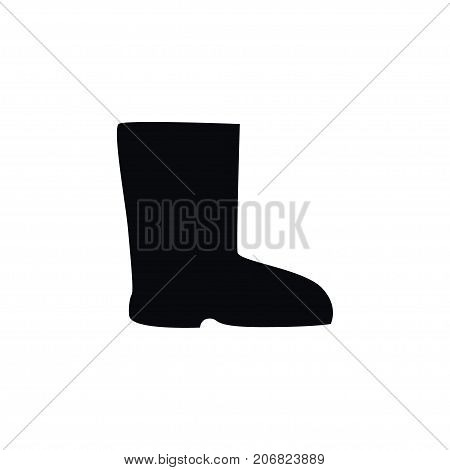 Boots Vector Element Can Be Used For Shoes, Boots, Wellies Design Concept.  Isolated Shoes Icon.
