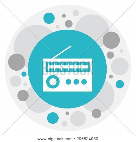 Vector Illustration Of Mp3 Symbol On Radio Icon