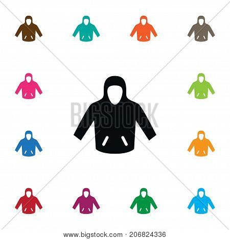 Sweatshirt Vector Element Can Be Used For Sweatshirt, Hoodie, Jacket Design Concept.  Isolated Hoodie Icon.
