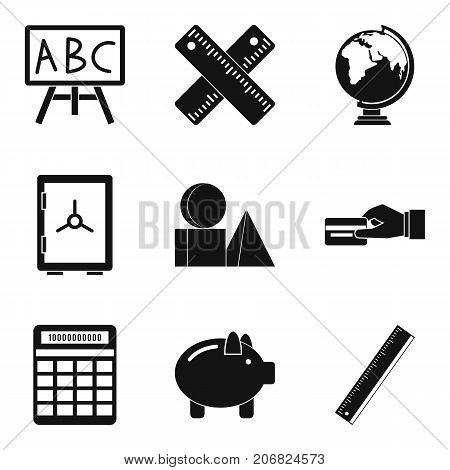 Cost calculation icons set. Simple set of 9 cost calculation vector icons for web isolated on white background
