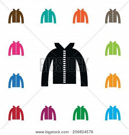 Hoodie Vector Element Can Be Used For Turtleneck, Jacket, Hoodie Design Concept.  Isolated Turtleneck Icon.