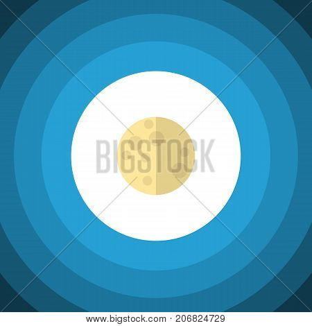 Lunar Vector Element Can Be Used For Moon, Lunar, Sky Design Concept.  Isolated Moon Flat Icon.