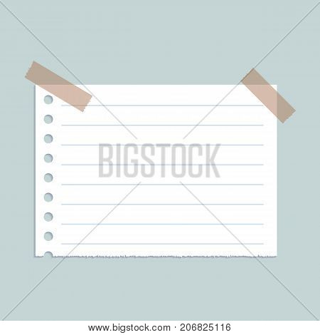 Line paper on wall concept background. Realistic illustration of line paper on wall vector concept background for web design