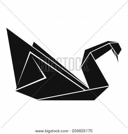 Origami swan icon. Simple illustration of origami swan vector icon for web