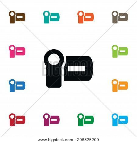 Cinema Vector Element Can Be Used For Cinematography, Cinema, Photography Design Concept.  Isolated Photography Icon.
