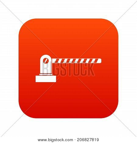 Parking barrier icon digital red for any design isolated on white vector illustration