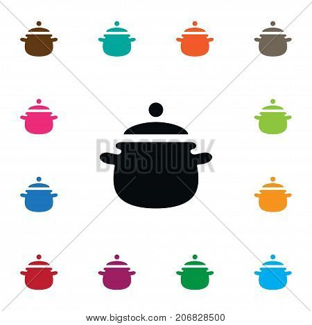Pan Vector Element Can Be Used For Utensil, Pan, Saucepan Design Concept.  Isolated Utensil Icon.