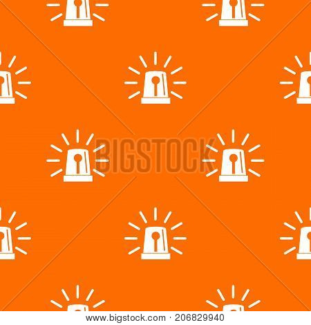 Flashing emergency light pattern repeat seamless in orange color for any design. Vector geometric illustration