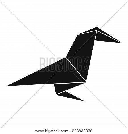 Origami raven icon. Simple illustration of origami raven vector icon for web