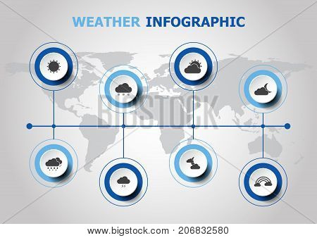 Infographic design with weather icons, stock vector