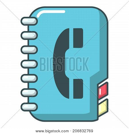 Phone book icon. Cartoon illustration of phone book vector icon for web