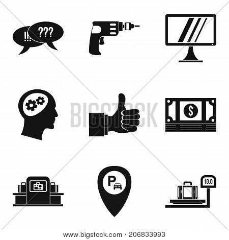 Useful idea icons set. Simple set of 9 useful idea vector icons for web isolated on white background