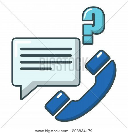 Telephone calls icon. Cartoon illustration of telephone calls vector icon for web
