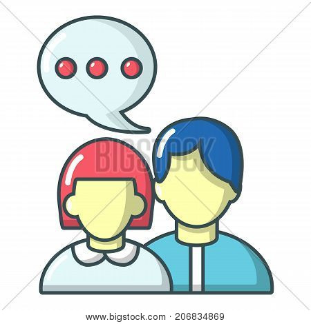 People conversation icon. Cartoon illustration of people conversation vector icon for web