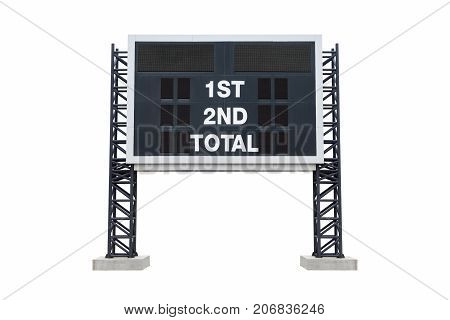 Mini scoreboard stadium isolated. with clipping path