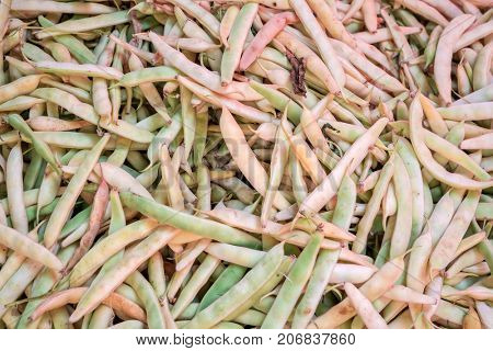 Food background with string beans