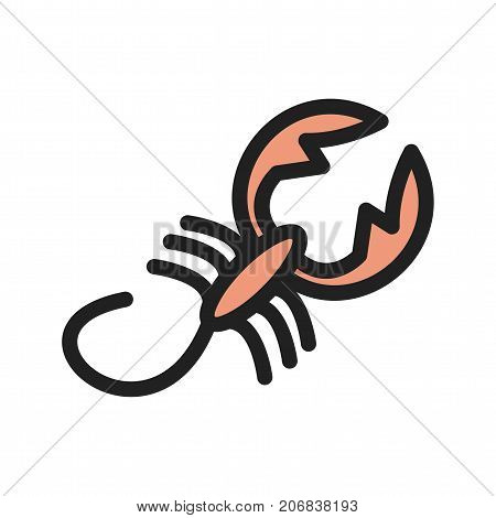 Scorpio, sign, zodiac icon vector image. Can also be used for Zodiac. Suitable for use on web apps, mobile apps and print media.