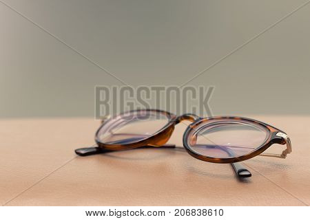 Retro vintage eyeglass is characterized by frames conveying a '50s '60s or '70s look
