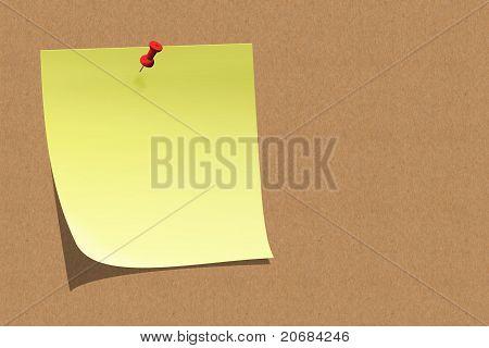 Empty Sticky Note On Board