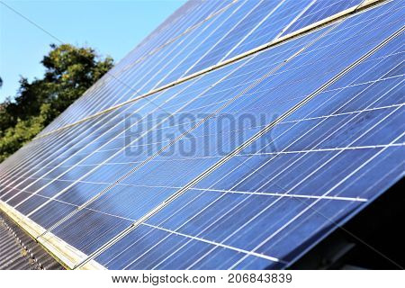 An image of solar cells - energie