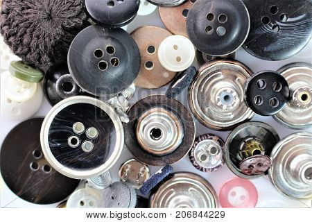An Image of Buttons - clothes, abstract