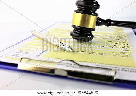 An concept Image of a form application and justice