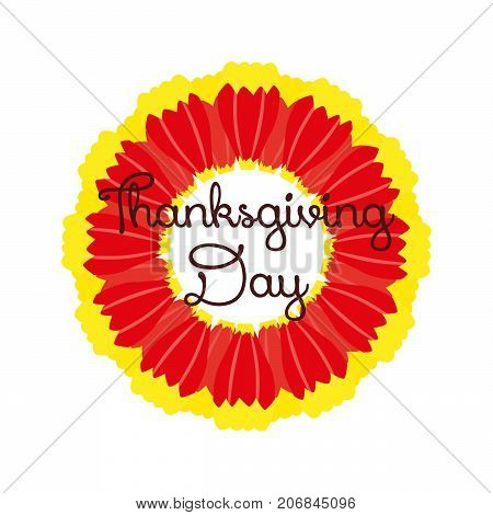 white thanksgiving backgrounds with big red flower. vector