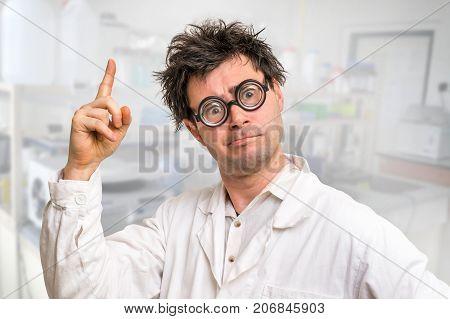 Crazy Scientist Got The Great Idea In His Laboratory