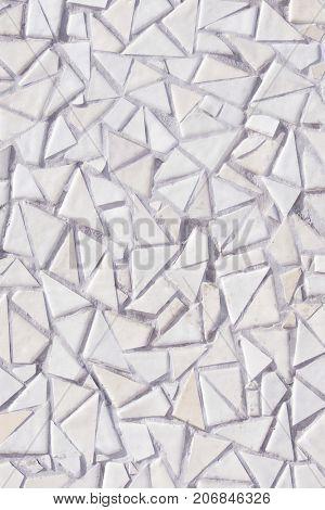 White mosaic tiles background