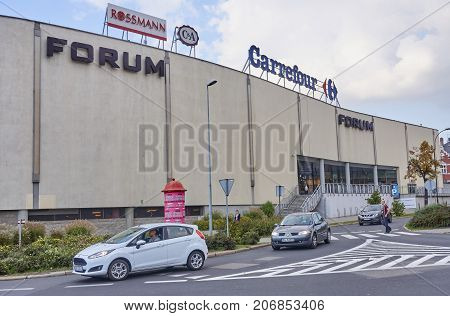 Gliwice, Poland - September 29, 2017: Forum Shopping Center On 2